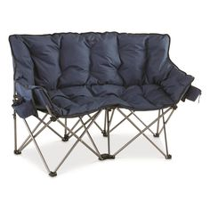 Guide Gear XL Club Love Seat, 500-lb. Capacity #ad Lawn Chairs, Club Chairs, Outdoor Chairs, Lounge Chairs, Folding Camping Chairs, Folding Chair, Tent Cot, Desk Chair Comfy, Movie In The Park