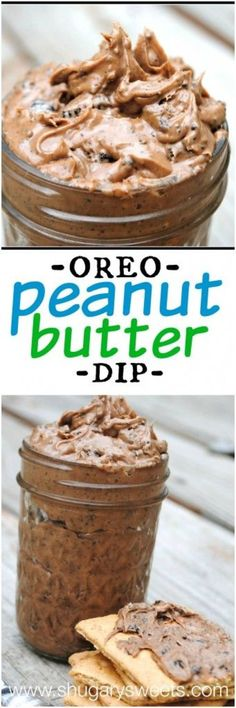 Oreo Peanut Butter dip: a delicious spread for apples, crackers or a spoon!