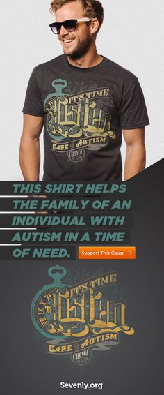 This shirt will help the family of an autistic child. See all the color options here: http://svnly.org/PinLink