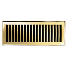 "This polished brass finish solid brass floor register heat vent cover with a contemporary design fits 4"" x 12"" x 2"" duct openings and adds the perfect accent to your home decor."