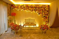New wedding decorations simple indoor receptions Ideas Decoration Hall, Wedding Hall Decorations, Marriage Decoration, Engagement Decorations, Backdrop Decorations, Flower Decorations, Backdrop Ideas, Best Wedding Planner, Wedding Planners