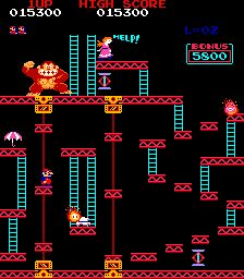 Donkey Kong - classic 80s flash game - old games at simplyeighties.com