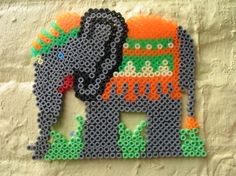 Elephant hama beads