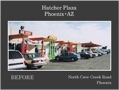This lovely 1950's built beauty prior to the Re-Development of Michael A Pollack. Hatcher Plaza in Phoenix AZ