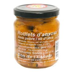 Rolls Anchovies in Olive Oil 205g. Salaons Solés
