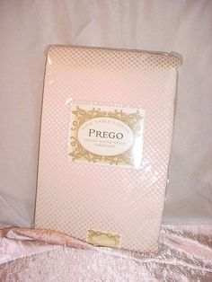 Prego Waffleweave Tablecloth Ivory 60  by 104 Oblong NEW in Package Benson Mills