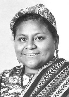 """The Nobel Peace Prize 1992: Rigoberta Menchú Tum. Prize motivation: """"in recognition of her work for social justice and ethno-cultural reconciliation based on respect for the rights of indigenous peoples"""""""