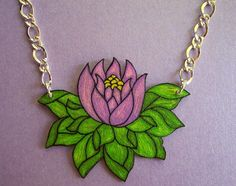 Shrink Plastic Jewelry | made these necklaces out of shrink plastic. I hand-drew them, then ...
