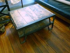 Industrial Pallet Coffee Table | Pallet Furniture Plans rustic furniture and decor, images at http://coastersfurniture.org/shabby-chic-furniture/rustic-furniture/