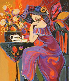Twilight Time Suite: Tea Time (2002) - Isaac Maimon. Serigraph, signed in pencil. Location: RoGallery, Long Island City, NY.