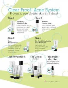 New clear proof skin care line! Works great for even sensitive skin! Contact me if you want to be part of a FREE trial on a test panel!! :) Www.marykay.com/jacquiemariehorton