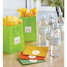 Great ideas for building your business! Personalize Avery labels with Martha Stewart-inspired designs for your grand opening or other promotional events.