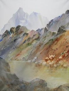 aquarelle-mc-mouly | Montagne