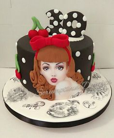 Womens Older Fun Ideas For 2019 Womens Older Fun Ideen für 2019 Pretty Cakes, Cute Cakes, Beautiful Cakes, Amazing Cakes, Girly Cakes, Fancy Cakes, Fondant Cakes, Cupcake Cakes, Cool Cake Designs