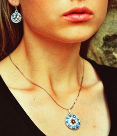 murrina earrings&pendant  foto made by @jankatot #murano #murrina #handmade #fashion #earrings #pendant #italian #jewellery #burano #brno #czech #czechgirl #slovakgirl #friendship #handcraft #art #blue #model #picoftheday #instamood #instaphoto