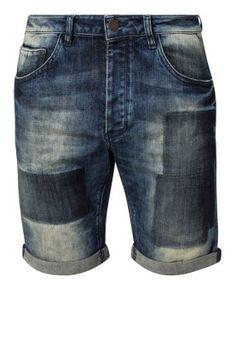 JASON 3/4 - Short vaquero - dark-blue denim