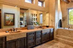 What a gorgeous #bathroom! #Decorated with #AshleyNorton #cabinet #hardware and hooks - we love it!!