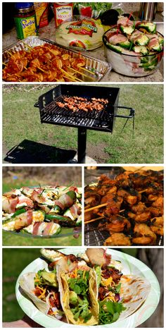 Great Cinco de Mayo lunch ideas.  Bacon wrapped Shrimp Tacos and Bacon wrapped stuffed Jalapenos