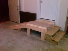How to build a wheelchair ramp over stairs google search for Handicap stairs plans