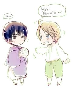 Hetalia Axis Powers requested sketch for the author-Little Japan and little America! Hetalia Chibi, Hetalia Fanart, Hetalia Japan, Aph America, Hetaoni, Spamano, Hetalia Axis Powers, 19 Days, Kawaii