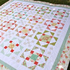 Bloom: Summer's Blush - a new layer cake PDF quilt pattern