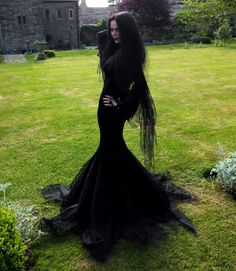 Morticia Addams Costume - Morticia Gown by Moonmaiden Gothic Clothing UK