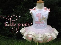 Petite Carousel Birthday Tutu Collection- Pink and Gold- Includes top, tutu and matching hairbow- Absolutely BEAUTIFUL on Etsy, $65.99