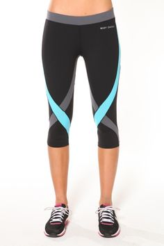 Criss Cross Tights- Black/Grey/Blue :: Blockout Clothing - womens fashion, sporting, gym, dresses, skirts and much more. Nike Outfits, Sport Outfits, Sport Fashion, Fitness Fashion, Womens Fashion, Gym Fashion, Fitness Gear, Workout Attire, Workout Wear