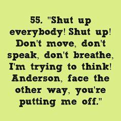 Just shut up