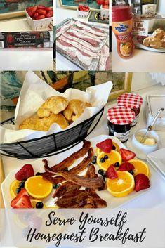 bacon, fruit, croiss