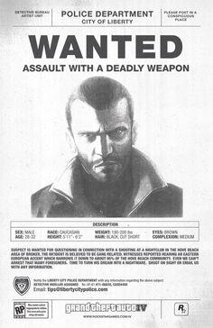 Niko Bellic-most wanted by barrymk100 on DeviantArt