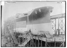 On March 17, 1915, the 15,000 ton superdreadnaught USS Pensylvania was launched at the Newport News (Virginia) Shipbuilding Drydock Company. It was the largest battleship ever launched anywhere in the world