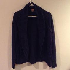 Used navy blue mossimo cardigan 100% acrylic sweater used Mossimo Supply Co Sweaters Cardigans