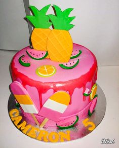 Summer is here! Birthday Cake Girls, Birthday Cakes, Order Cake, Chocolate Mousse Cake, Cake Business, Occasion Cakes, Girl Cakes, Sponge Cake, Delicious Chocolate