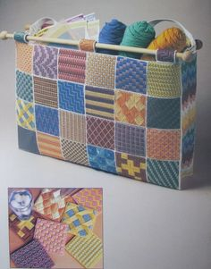 images of plastic canvas tote bag patterns | Sample Stitches Tote Bag Plastic Canvas Pattern Book Tote Bag Coasters ... Sorry no pattern available, this is for inspiration only