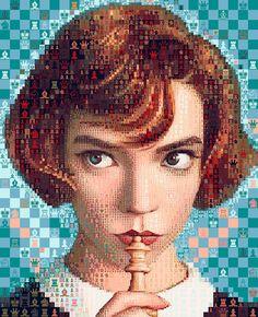#chess #chessboard #chessplayer #chessgame #chessmoves #chessmaster #netflix #chesslover #chesslife #checkmate #game #checkitout #prototype #chessgame #playchess #blackknight #blackandwhite #engineering #cool #chessboard #chesslovers #texas #corpuschristi #business #prototyping #beatthegame #makeit #diy #design #create #fashion #market #marketing #chesscompetition #strategy #strategies #innovate #innovaum #bts #TheQueensGambit Gambit Wallpaper, Mosaic Portrait, Anya Taylor Joy, Human Soul, Portraits, No Photoshop, Behance, Mosaic Art, Chess