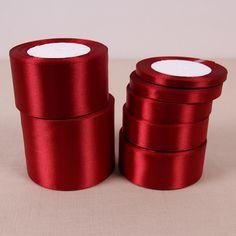 Vino rosso raso di seta del nastro con oro decorazione della festa nuziale confezione regalo di natale nuovo anno abbigliamento cucito tessuto nastro del regalo