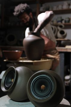 [Image] | Handmade Wireless Clay Speakers Amplify The Sound Of The... - TIMEWHEEL
