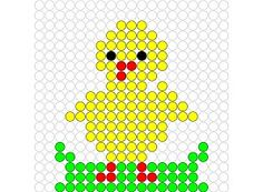 Hama Beads Patterns, Beading Patterns, Perler Bead Art, Perler Beads, Pony Bead Animals, Van Lego, Chicken Pattern, Perler Bead Templates, Iron Beads