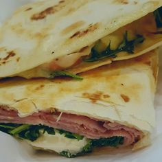 #Rosemary #ham #piadina with #burrata cheese and #local greens. DELIZIOSO!  #DoYouGelato #PiccolaGelateria #NOLA #FreretStreet #food #dinner #lunch