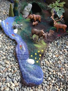 And the carrot came up...: Wet Felted Playscape - The Story of Baby Bear