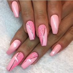 Beautiful nail art designs that are just too cute to resist. It's time to try out something new with your nail art. Pink Nail Art, Acrylic Nail Art, Pink Art, Nail Art Stripes, Striped Nails, 3d Nail Art, Beautiful Nail Art, Gorgeous Nails, Amazing Nails