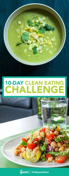 Ditching processed foods might sound hard—but these insanely delicious recipes make it a breeze. #10daysofclean #healthy #recipes http://greatist.com/eat/clean-eating-dinner-challenge