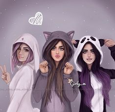 Imagen de girly_m, friends, and drawing