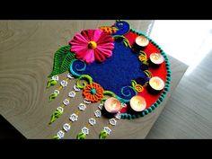 Satisfying video/peacock rangoli design for festivals Rangoli Designs Simple Diwali, Simple Flower Rangoli, Rangoli Designs Flower, Kolam Designs, Diwali Craft, Diwali Rangoli, Poster Rangoli, Diwali Photography, Festival Rangoli
