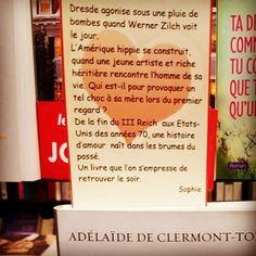 Le dernier des nôtres de Adélaïde de Clermont-Tonnerre @editionsgrasset  Coup de coeur @libcheminant Vannes #rentreelitteraire2016 #lespetitsmotsdeslibraires #livre #book