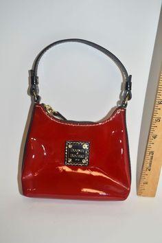 Dooney & Bourke RED Patent Leather Bitsy Bag Purse Handbag Christmas #0 #DooneyBourke #Satchel