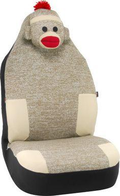 Car Decor - Sock Monkey Car Seat Cover, $29.99 (http://www.cardecor.com/products/Sock-Monkey-Car-Seat-Cover.html)