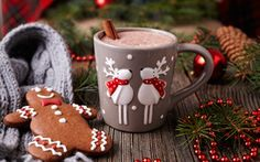 Обои merry, christmas, xmas, decoration, cookies, gingerbread