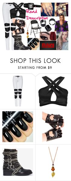 """Shavannah - Attacking Nia Jax"" by makhinegankaller14 ❤ liked on Polyvore featuring Philipp Plein, Boohoo, WWE, Jeffrey Campbell and wweoc"